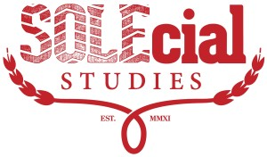 SOLEcial Studies logo in red.