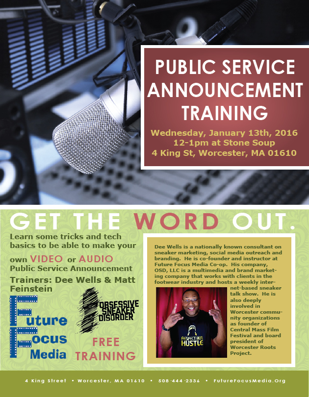 Training announcement flyer for Public service announcement template